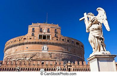 Saint Angel castle - Famous Saint Angel castle in Rome,...