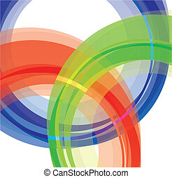 Abstract shape background on the white background