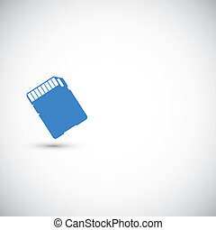 Memory card. Vector illustration