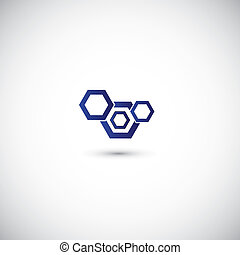 Business abstract icon - Business abstract technology shape...
