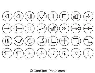 Media symbol on the white vector illustration