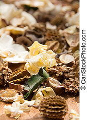 potpourri,dry flowers - close up of potpourri,dry flowers
