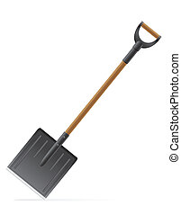 garden tool shovel vector illustration isolated on white...
