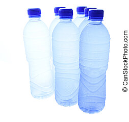 Bottled Mineral Water - Bottled mineral water over white...