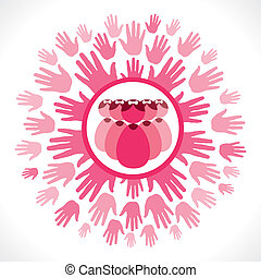 save girl child vector