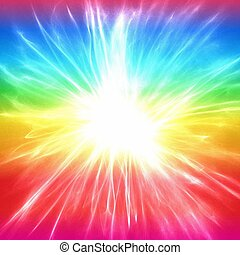 Bright Morning Star - A colourful abstract rainbow and...