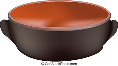 earthenware casserole - terracotta pot for cooking food