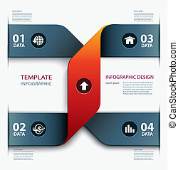 business step paper template - Vector business step paper...