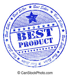 Grunge best product rubber stamp
