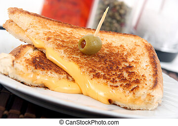 asado parrilla, queso, emparedado
