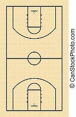 Basketball Court - NBA Basketball Court