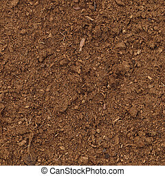 Peat Turf Macro Closeup, large detailed brown organic humus...
