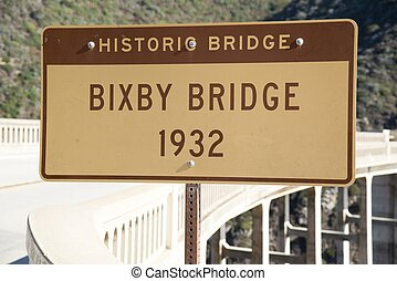 Bixby Bridge - The Bixby Bridge on the west coast of...