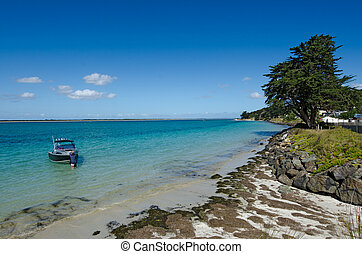Rangaunu harbour in Karikari Peninsula New Zealand -...