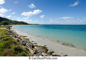 Landscape of Karikari Peninsula New Zealand - Landscape view...