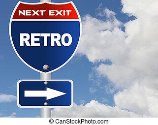 Retro road sign