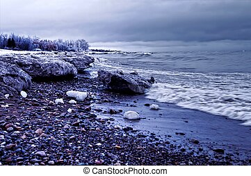 Great Lakes Grey - Stormy Skies over Lake Huron