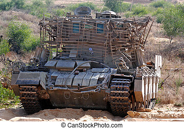 Armoured recovery vehicle - NORTH GAZA STRIP, ISR - AUG...