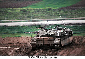 IDF Ready for Ground Incursion in Gaza Strip - NACHAL OZ,...