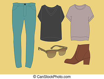 Hipster Fashion Outfit - clothing set