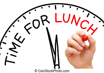 Time for Lunch - Hand writing Time for Lunch concept with...