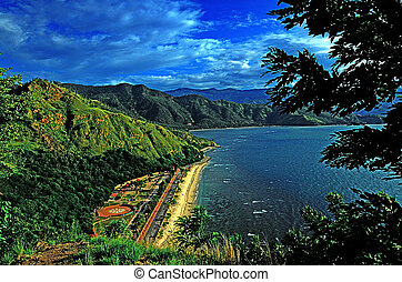 facutama - View of the beach around Fatucama Cristo Rei...