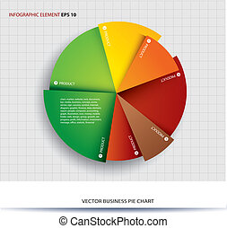 Business pie chart Paper Info graphics. For documents and...