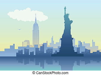 New York City - An illustration of New York City skyline