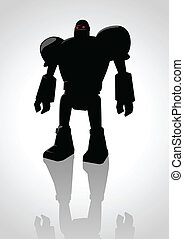 Robot - Silhouette illustration of a robot