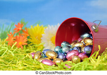 egg candy for Easter day in morning time