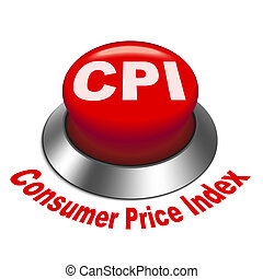 3d illustration of CPI Consumer Price Index button isolated...