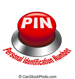 3d illustration of PIN ( Personal identification number)...