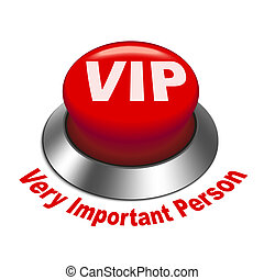 3d illustration of vip very important person button isolated...