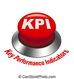 3d illustration of KPI Key Performance Indicator button...