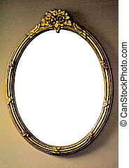 Gilded mirror frame ready for your text.
