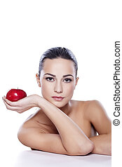 health and beauty - portrait of a beautiful girl with an...