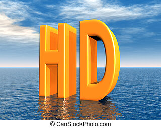 HD - The abbreviation HD - High Definition