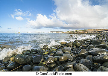 Lanzarote - Landscape of the island of Lanzarote Spain