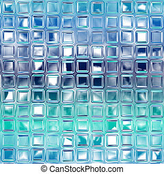 Abstract glass background - Abstract generated glass tiles...
