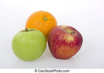 Fruits isolated over a white background