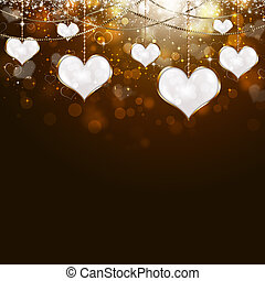 Valentine Golden Background - holiday valentine golden...