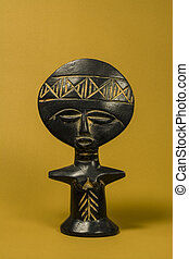 African Fertility Doll - African Fertility Wooden Statuette...