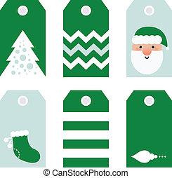Cute modern Christmas holiday gift tags printables -...