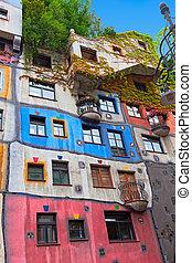 Hundertwasser House in Vienna, Austria - Hundertwasser House...
