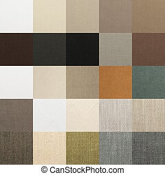 Textile chart with many color samples