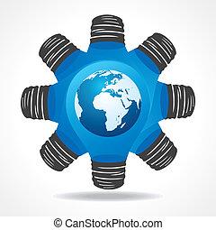 Light-bulb with earth