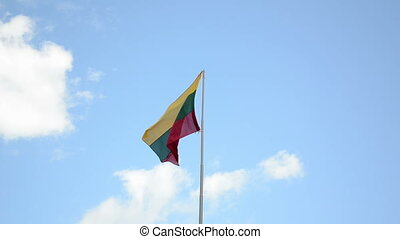 Lithuania flag tricolor - Speed up scene of tricolor...