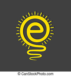Email sign male a light-bulb stock vector