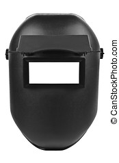 welding mask - black welding mask isolated on pure white...