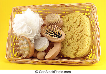 Basket of Goods for personal care - Elements for body care,...